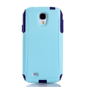 Shockproof Dirt-proof PC + TPU 2 in 1 Protective Cover for Samsung Galaxy S4 I9500 - Light Blue