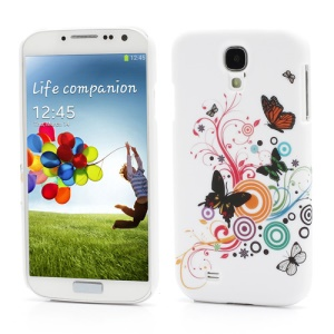 Vivid Butterfly Circle Hard Plastic Case for Samsung Galaxy S 4 SIV i9500 i9505