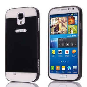 Xuenair Aluminum Metal Bumper Frame + PC Back Cover for Samsung Galaxy S4 I9500 - Black