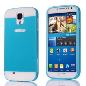 Xuenair Aluminum Metal Bumper Frame + PC Back Cover for Samsung Galaxy S4 I9500 - Blue