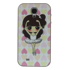 Dancing Girl TPU + PC Hybrid Protective Case for Samsung Galaxy S4 I9500