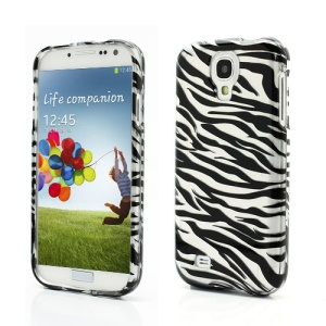 Zebra Stripe Combo 2 in 1 Snap-on Hard Case Cover for Samsung Galaxy S IV i9500 i9505