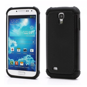 Premium Silicone &amp; Plastic Combo Shatterproof Hybrid Case Accessories for Samsung Galaxy S IV S 4 i9500 i9505 - Black
