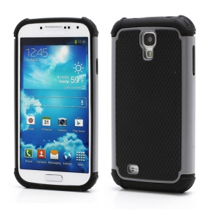 Premium Silicone & Plastic Combo Shatterproof Hybrid Case Accessories for Samsung Galaxy S IV S 4 i9500 i9505 - Black / Grey