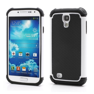 Premium Silicone &amp; Plastic Combo Shatterproof Hybrid Case Accessories for Samsung Galaxy S IV S 4 i9500 i9505 - Black / White