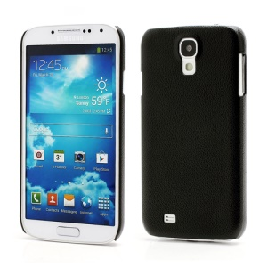 Jzzs Leather Texture Plastic Case for Samsung Galaxy S IV S 4 i9500 i9505 - Black