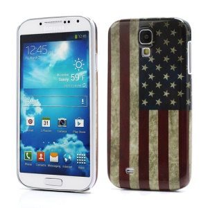 Retro Flag of United States Plastic Case for Samsung Galaxy S IV S 4 i9500 i9505
