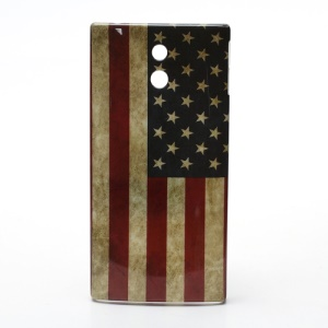 Sony Xperia P LT22i Nypon Hard Case Retro American Flag