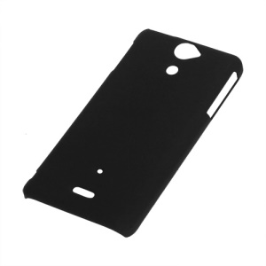 Rubberized Matte Hard Case Cover for Sony Xperia V LT25i - Black