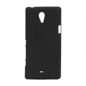 Rubberized Hard Plastic Case for Sony Xperia T LT30p LT30i Mint - Black