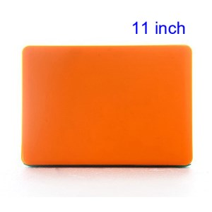 11&quot; 11.6&quot; Mac MacBook Air Crystal Hard Shell Cover Case Laptop - Translucent Orange