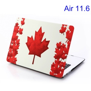 For MacBook Air 11.6 inch Red Maple Leaf Rubberized Hard Cover
