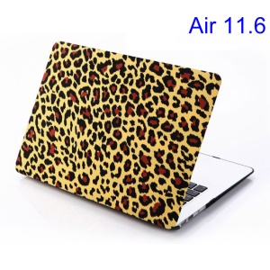 Red Leopard Yellow Background for MacBook Air 11.6 inch Hard Back Case