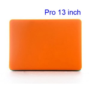 Snap-on Slim Crystal Case Cover for MacBook Pro 13.3 inch (A1278 Old Model) - Translucent Orange