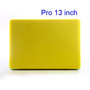 Snap-on Slim Crystal Case Cover for MacBook Pro 13.3 inch (A1278 Old Model) - Translucent Yellow