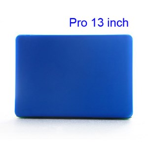 Snap-on Slim Crystal Case Cover for MacBook Pro 13.3 inch (A1278 Old Model) - Translucent Dark Blue