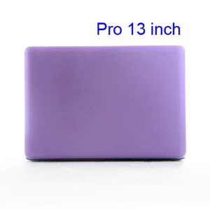 Snap-on Slim Crystal Case Cover for MacBook Pro 13.3 inch (A1278 Old Model) - Translucent Purple