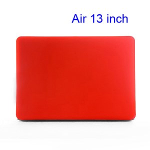 Crystal Hard Case Full Cover Skin for Macbook Air 13.3 - Translucent Red