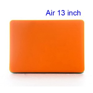 Crystal Hard Case Full Cover Skin for Macbook Air 13.3 - Translucent Orange