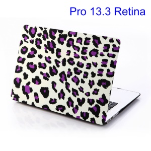 Purple Leopard White Background for MacBook Pro 13.3 inch Retina Display (A1425) PC Back Case