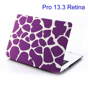 For MacBook Pro 13.3 inch Retina Display (A1425) Purple Irregular Patterns Hard Cover