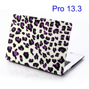 Purple Leopard White Background PC Case for MacBook Pro 13.3 inch (A1278 Old Model)