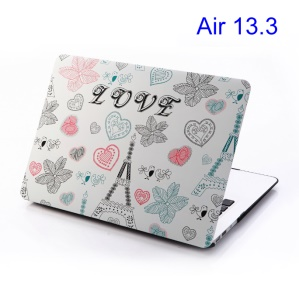 Love Eiffel Tower & Leaves for Macbook Air 13.3 Rubberized PC Case