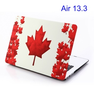 For Macbook Air 13.3 Red Maple Leaf Rubberized Hard Cover