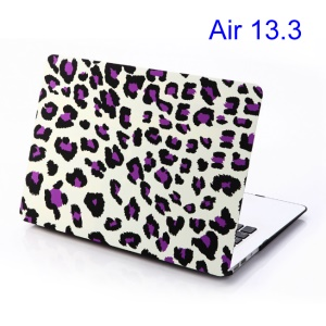 Purple Leopard White Background for Macbook Air 13.3 Hard Back Case