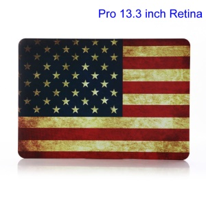 Retro US National Flag Hard Cover for MacBook Pro 13.3 inch Retina Display A1425