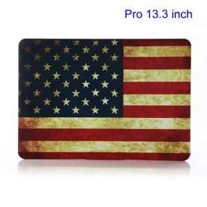 Retro American Flag Plastic Hard Shell for MacBook Pro 13.3 inch A1278 Old Model