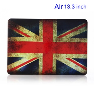Vintage UK Flag Rubberized Hard Shell Cover for Apple Macbook Air 13.3