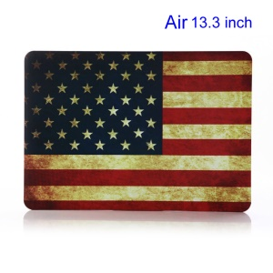 Vintage US Flag Rubberized Plastic Case Cover for Apple Macbook Air 13.3