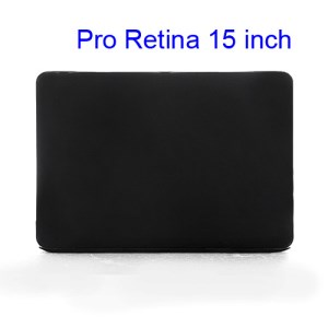 Crystal Protective Case Cover for Apple MacBook Pro 15.4 inch with Retina Display (A1398) - Black