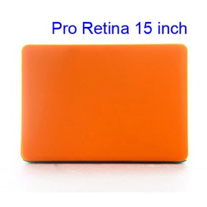 Crystal Protective Case Cover for Apple MacBook Pro 15.4 inch with Retina Display (A1398) - Translucent Orange
