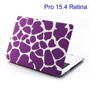 For MacBook Pro 15.4 w/ Retina Display Plastic Case Purple Irregular Patterns (A1398)