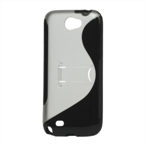 S Shape TPU with Stand  Hybrid Case for Samsung Galaxy Note II N7100
