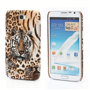 Tiger Leather Coated Hard Case for Samsung Galaxy Note 2 / II N7100