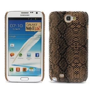 Cool Snake Leather Skin Protective Hard Case for Samsung Galaxy Note 2 / II N7100 - Brown