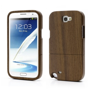Real Wood Detachable Protective Hard Case for Samsung Galaxy Note 2 / II N7100 - Walnut Wood