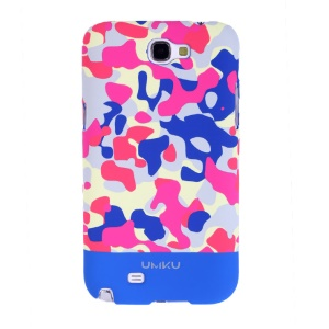 Dark Blue Umku for Samsung Galaxy Note II N7100 Camouflage Series PC Hard Shell