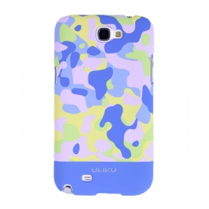 Light Blue Umku for Samsung Galaxy Note 2 N7100 Camouflage Series Hard Case