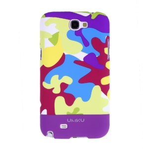 Light Purple Umku Camouflage Series Hard Cover for Samsung Galaxy Note 2 N7100