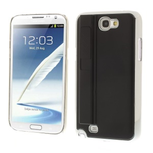 Black for Samsung Galaxy Note II N7100 Hard Plastic Back Case w/ Electric Lighter