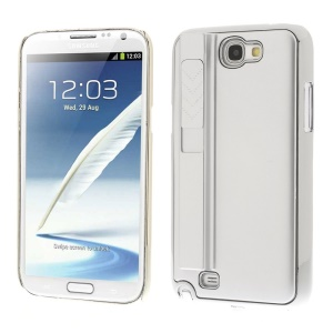 Silver for Samsung Galaxy Note II N7100 Hard Plastic Back Shell w/ Electric Lighter