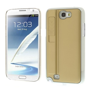 Champagne for Samsung Galaxy Note II N7100 Hard Plastic Back Shell Cover w/ Electric Lighter