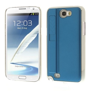 Blue for Samsung Galaxy Note II N7100 Hard Plastic Case w/ Electric Lighter