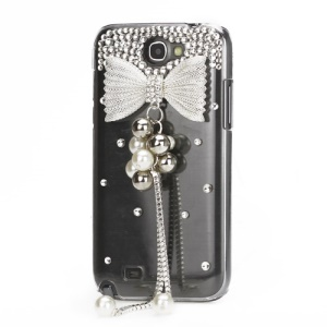 Noble Pearl Bowknot Diamante Crystal Case for Samsung Galaxy Note 2 / II N7100