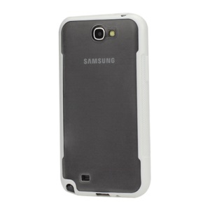 TPU and Plastic Combo Protective Case for Samsung Galaxy Note 2 / II N7100 - White