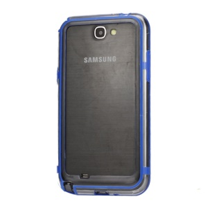 TPU &amp; Plastic Hybrid Bumper Frame Case for Samsung Galaxy Note II N7100 - Dark Blue